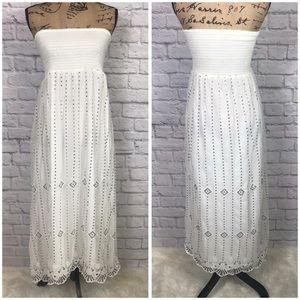 Free People White Sequin Maxi Dress Boho Sz Large